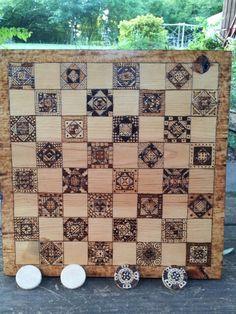 #Pyrography #checkerboard 2013