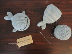Amigurumi Ballena Diky www.pinkyminky.com.ar 100% crochet hecho a mano en algodón natural
