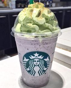 @scottafters  @STARBUCKS COOKIES N CREME W. GREEN TEA WHIP FRAP. CELEBRATED THIS LOCAL STARBUCKS 1YR BIRTHDAY WITH THIS RARE BEAUTY.  TAG A STARBUCKS JUNKIE