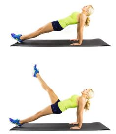 reverse plank with leg rise