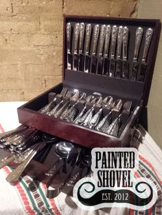 Vintage silverware set sold by auction at Painted Shovel in Avondale, AL.