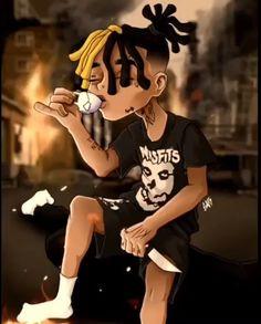Dope Cartoon Art, Dope Cartoons, Black Cartoon, Anime Rapper, Rapper Art, Simpsons Drawings, Cartoon Drawings, Tupac Art, Famous Legends