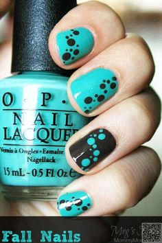 3. #Opposite #Nails - Here Are the #Coolest 38 Polka Dot Nail Art #Patterns in the World ... → Nails #Glitter