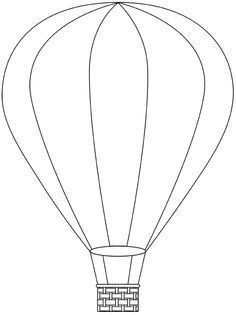 Hot Air Balloon Template Printable | Best Business Template intended ...