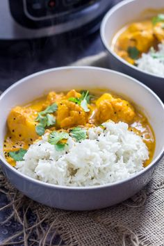 This creamy cauliflower curry has an amazing butter chicken style sauce but switches out the meat for a great vegetarian meal. You can make it in the pressure cooker or Instant Pot in a matter of minutes!