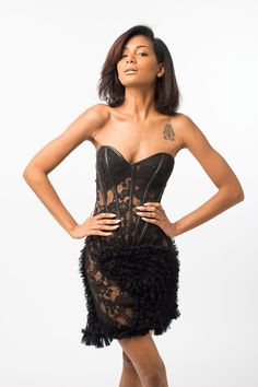cd5c2bcd61 Show off that squad bod in this sheer stunner lace bustier dress by  Limpasse. Ships