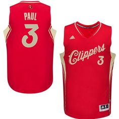 93f200f439a Chris Paul Authentic In Red Adidas NBA Los Angeles Clippers Christmas Day  Men's Jersey