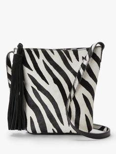 922e2bfe2226 AND/OR Mena Suede Cross Body Bag, Zebra Print