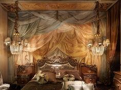"""This """"Trompe l'oeil"""" is really cool! See if you can figure out what is painted and what is real! (The bed and the lights are real)"""