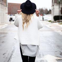 Crop sweater   Pinstripes