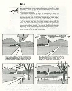 """""""Composition—how to make pictures."""" Notes from the FAMOUS ARTISTS COURSE series on composition, depth, staging, and so forth. Art Sketches, Art Drawings, Composition Drawing, Composition Design, Arte Latina, Perspective Drawing Lessons, Principles Of Art, Make Pictures, Commercial Art"""