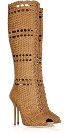 GUCCI  Woven leather boots - these would make a definite statement if you can pull them off!