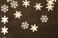 snowflake garland  7 feet by chiarabelle on Etsy