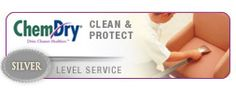 Try our Silver level cleaning service today. Carpet cleaning and upholstery cleaning that cleans deep, is organic and healthy and dries in just 1-2 hours. The silver level also has Chem-Dry's Protectant to prolong the cleaning results and help fight against future staining and build up.