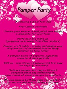 Princess pamper party   Be Pampered from Head to Toe!