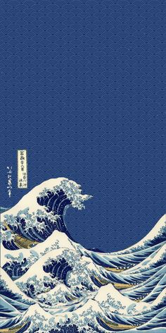 Great wave of kanagawa think you guys could find me a wallpaper similar to this Waves Wallpaper Iphone, Japanese Wallpaper Iphone, Pop Art Wallpaper, Trippy Wallpaper, Anime Scenery Wallpaper, Iphone Background Wallpaper, Aesthetic Pastel Wallpaper, Aesthetic Wallpapers, Iphone Wallpaper Tokyo