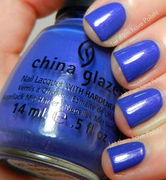 China Glaze Avant Garden Collection - Fancy Pants. This color wishes it was more like Cult Nails Flushed. There's a bit of shimmer in there... still beautiful though, and obviously less purple and more blue.