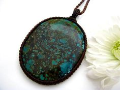 Tibetan Turquoise Necklace / Large pendant / by EarthAuraCreations  Turquoise,tibet,stone jewelry,stone necklace,boho fashion  www.earthauracreations.etsy.com