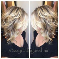 Shoulder Length Blonde Hair