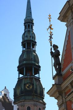 Рига. Riga, Lithuania, Sketching, Cities, Tower, Architecture, World, Building, Travel
