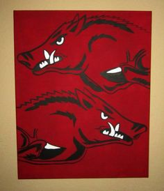 Double hogs on canvas