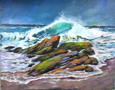 Moss Covered Rocks and Surf will be our 16x20 May wave and water masterclass new release.