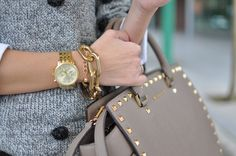 Michael Kors Watch, Selma Michael Kors Bag, Choies bracelet