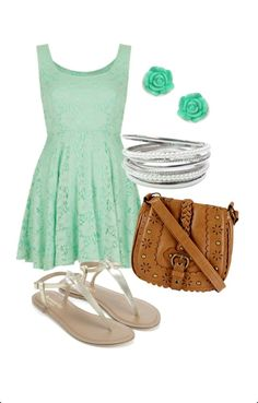 Image result for mint dress outfits