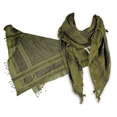AguaForma Two Shemagh Military Tactical Scarf Set ? Best Head, Neck & Body Gear for Outdoor Sports, Severe Weather & Fashion ? Includes 1 Green & 1 Khaki, Plus a Bonus Gift ? For Sports, Hiking, Hunting, Motorcycling, Paintball, Survival ... and Style ? Great Emergency Storm Weather Travel Kit for the Car ? 100% Money Back Guarantee - ? VALUE & 100% SATISFACTION GUARANTEE: AguaForma provides TWO shemagh scarves for the price you may pay elsewhere for only one!  As always, if you don\'t like…