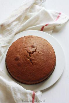 caramel cardamom cake with caramel icing