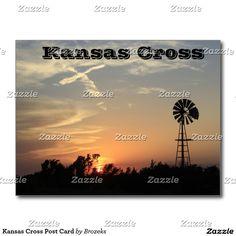 Kansas Cross Post Card