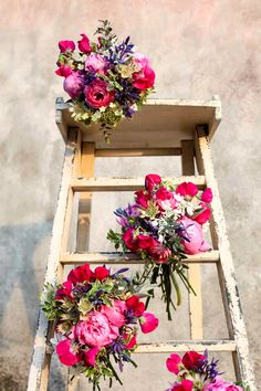Peonies, Sweet Peas and Camassia bouquets - like these although they don't match our colour scheme Spring Wedding Flowers, Fall Wedding Bouquets, Bridal Flowers, Floral Wedding, Wedding Color Schemes, Wedding Colors, Flower Decorations, Wedding Decorations, May Flowers