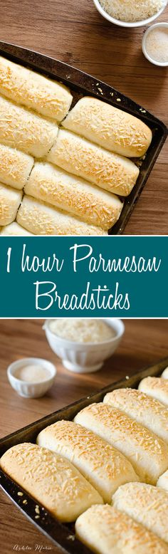 easy to make, delicious and light, 1 hour parmesan breadsticks