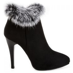 $30.52 Stiletto Heel Pointed Toe Suede Ankle Boots
