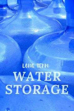 Not sure how to store water? Learn some great tips from the experts on how to store water and long term water storage solutions. Long Term Water Storage, Water Storage Tanks, Long Term Food Storage, Doomsday Prepping, Survival Prepping, Survival Skills, Survival Gear, Survival Items, Survival Hacks