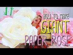Paper Flower Backdrop - YouTube