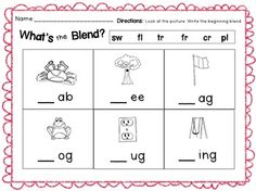 CVC Words, Middle Vowel Sounds, Ending Sounds, Blends. Teacherspayteachers