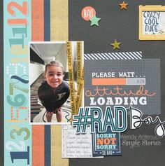 #RAD Boy **Simple Stories DT** - Scrapbook.com