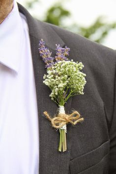 The Groom's Men were all presented with Boutonnieres of Lavender and Gypsophilia…