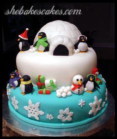 Holiday Penguin Cake. :)