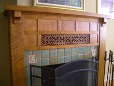 top collection arts and crafts fireplace mantels. simply seven craftsman fireplace mantels that will make you drool Craftsman Fireplace Mantels, Fireplace Mantel Surrounds, Wood Fireplace Mantel, Home Fireplace, Fireplace Design, Fireplaces, Fireplace Ideas, Country Fireplace, Art And Craft Videos