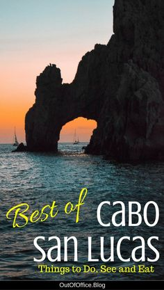 Cabo San Lucas is famous for its tacos, tequila and sunshine, but there's so much more to this resort town in Mexico. Check out the best things to do, see and eat while visiting Cabo