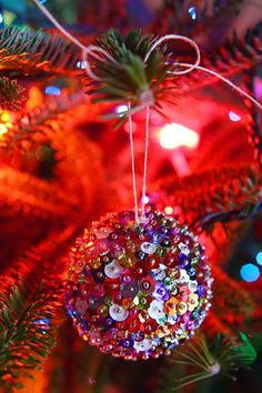 DIY: Sequin Sparkles Ornament // Caught On A Whim Blog
