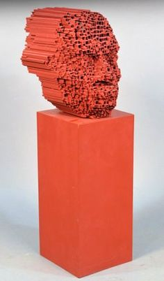 David Mach, 'Big Heid' maquette for his Public Art piece on the M8 between…