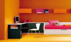 chambre ado en orange