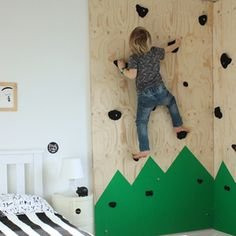 Can you say INDOOR CLIMBING WALL?!?! by @growingspaces