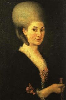 Nannerl in 1785. Wolfgang often composed piano duets to perform with his sister while they were young. In 1765, at nine years old, he composed this piece, which the two performed together ,  On October 29, 1829, Nannerl passed away in Salzburg, where she lived after her husband died in 1801.