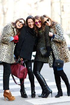 Does it get more glamorous than Garance Dore, Anna Della Russo and leopard coat(s) in Italy?!