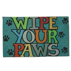 Mohawk Doorscapes Mat Wipe Your Paws Door Mat (1'6x2'6) (Wipe Your Paws Blue) (Polyester)