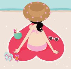 Girl At The Beach By iamlubi
